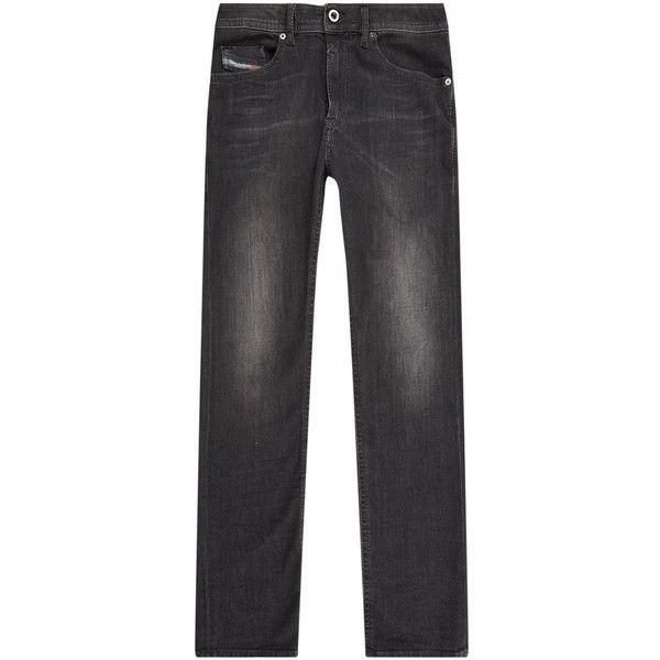 Diesel Skinny Jeans ($175) ❤ liked on Polyvore featuring men's fashion, men's clothing, men's jeans, mens skinny fit jeans, mens skinny jeans, mens super skinny jeans and diesel mens jeans
