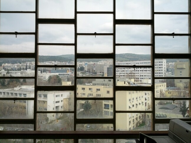 View from the Architecture Department, Polytechnic School of Thessaloniki