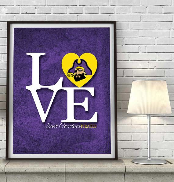 Man Cave East Bethel : Ecu east carolina pirates inspired quot love art print