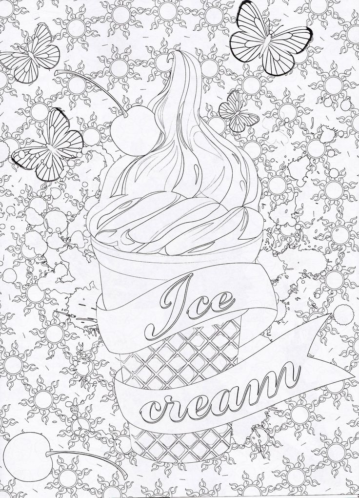 25 best ideas about Ice cream coloring pages on Pinterest