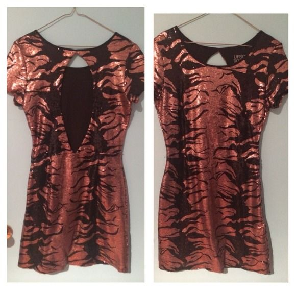 Beautiful gorgeous copper sequence dress Beautiful gorgeous copper sequence dress size 8 worn just once from urban outfitters upson downes Dresses