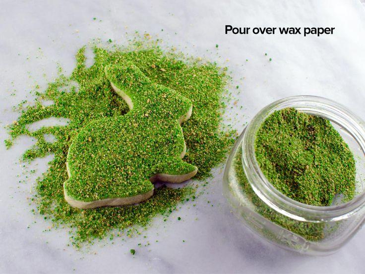 sprinkle crumbs over moss cookie step 7