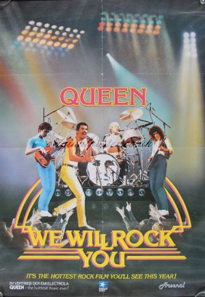 We Will Rock You Queen Live In Concert Original Vintage
