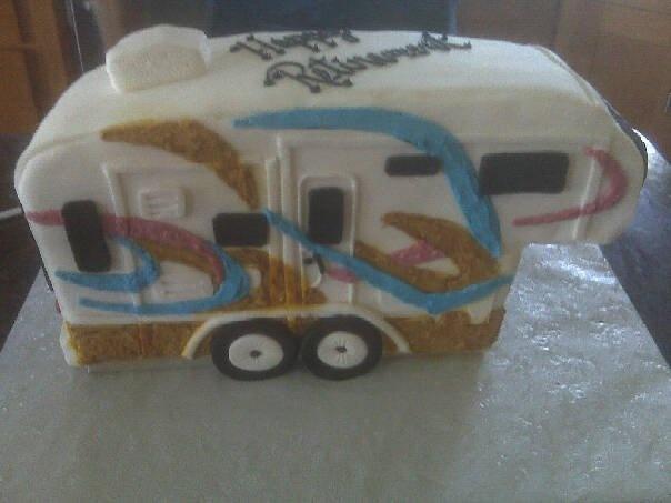 Travel Trailer Camping Birthday Cakes