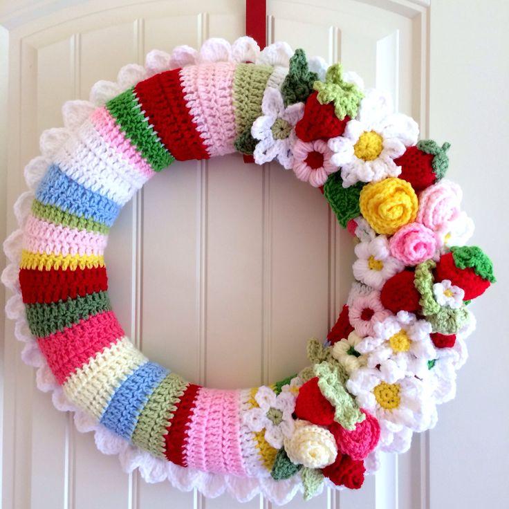Custom Crocheted Wreath by HuckleberryPrairie on Etsy, $30.00