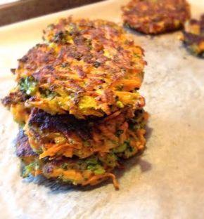 Heerlijk gezonde zoete aardappel, broccoli koekjes, glutenvrij!