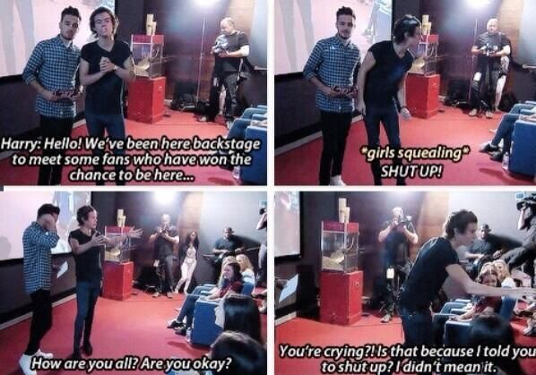 That part was funny<<< you can see how caring he is. This was one of my favorite moments out of the day