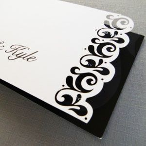 Lasercut Wedding Invitation from The Toast Enterprise