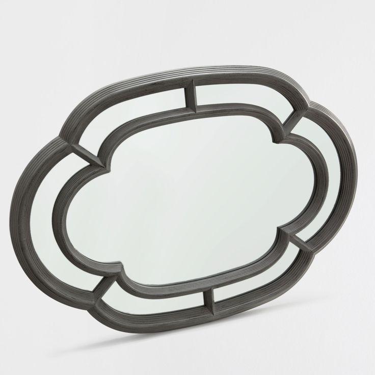 Afbeelding 1 van het product Ovale spiegel met dubbele grijze lijst ZARA HOME €59,99