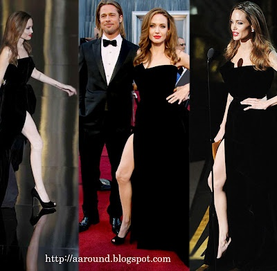 "At the Academy Awards Angelina Jolie caused a stir. Again and again looked out of her ""dress hochgeschlitzten"" right leg. As her ""Hot Leg"" is the hype."