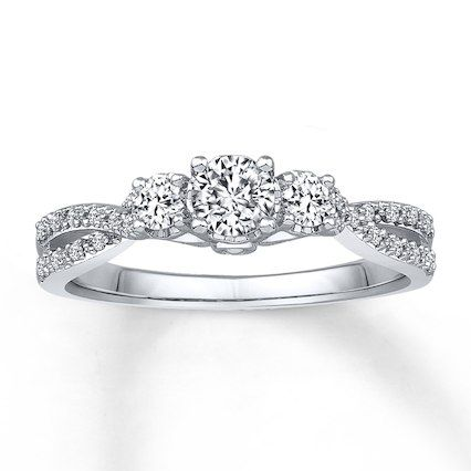 Jared - Diamond Engagement Ring 1/2 ct tw Round-cut 14K White Gold