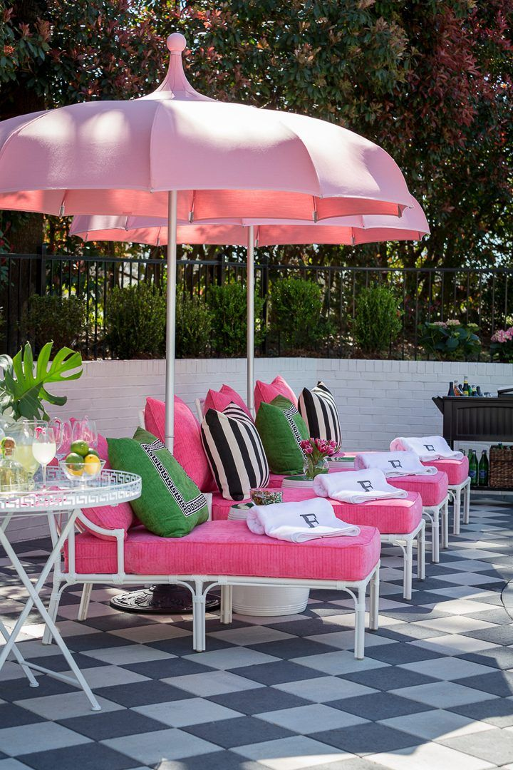 Palm Beach Chic Outdoor Decor Ideas And Deck Plan With Images