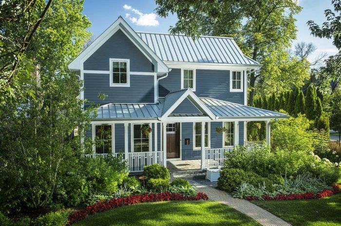 Pin By Hirehaven Home Improvement On Reno House Exterior Blue Metal Roof Houses House Exterior