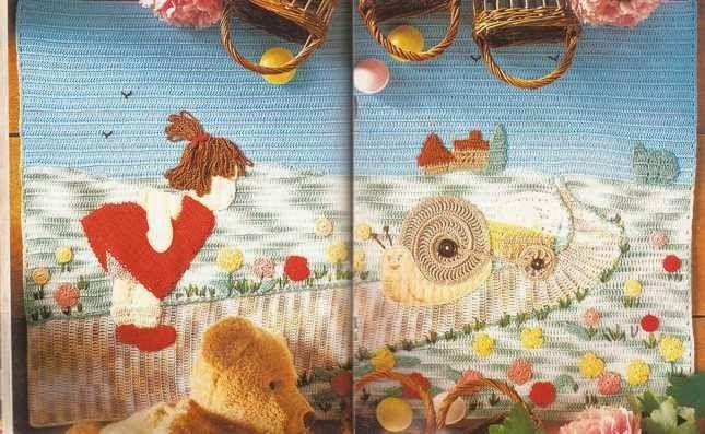 """#53 Panel Decorativo """"El país de las maravillas"""" a Crochet"""