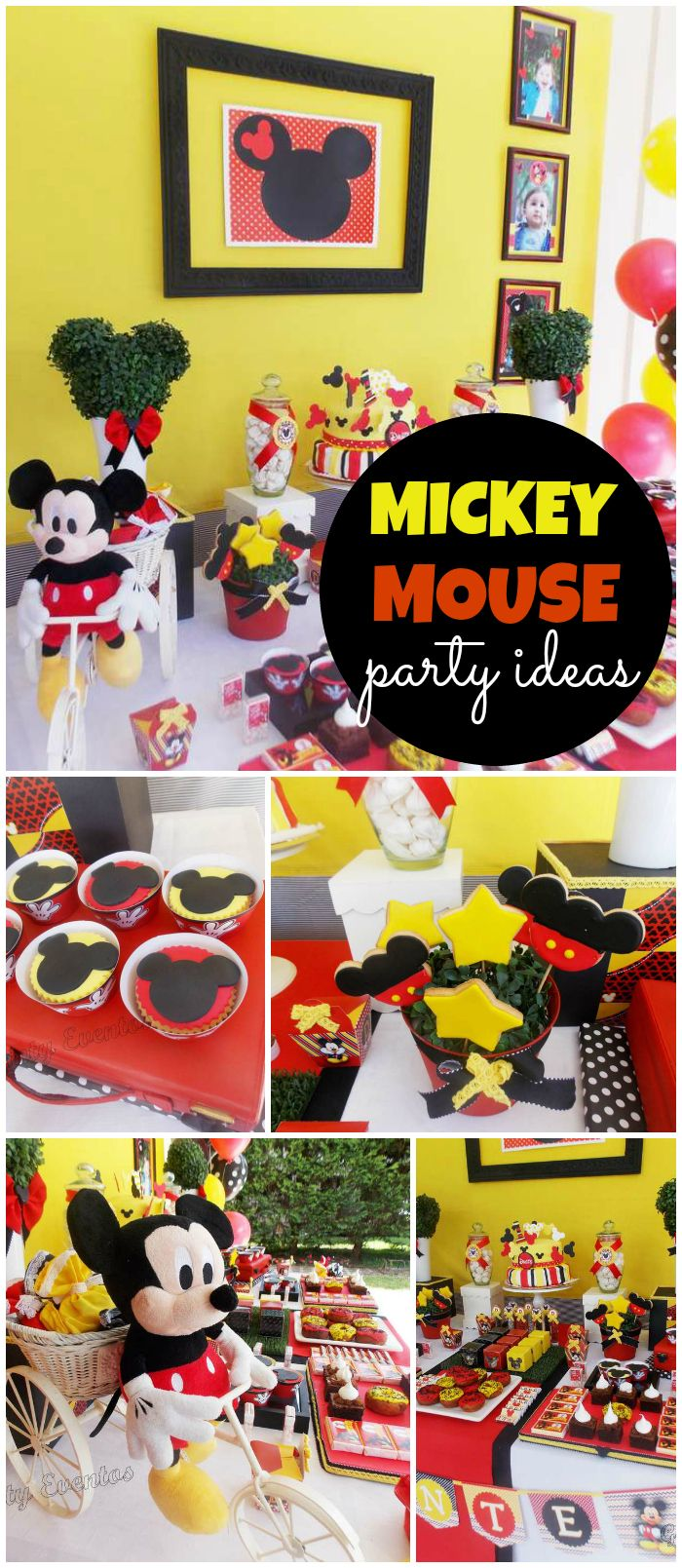 You should see this classic Mickey party! So fun! See more party ideas at CatchMyParty.com!