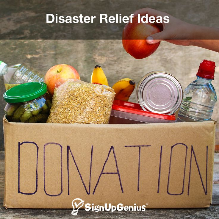 Disaster relief ideas to help those in need coping from natural disasters such as fires, tornadoes, hurricanes, flooding and more. Get ideas for helping out.