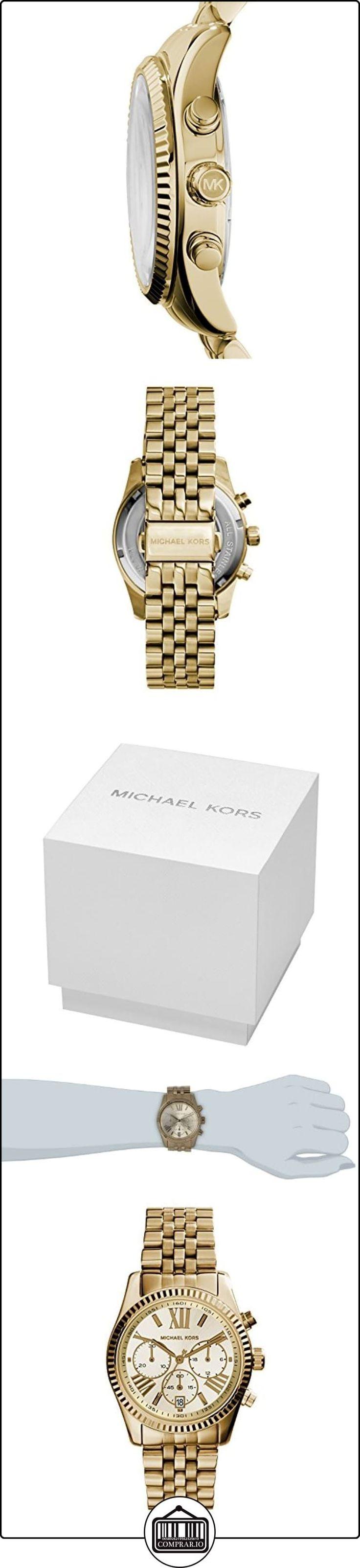 Michael Kors MK5556 - Reloj de cuarzo con correa de acero inoxidable para mujer, color dorado ✿ Relojes para mujer - (Gama media/alta) ✿ #relojmichaelkorshombre #relojmichaelkors #reloj #michaelkors #espana #michaelkorsespana #relojesmk #mkreloj