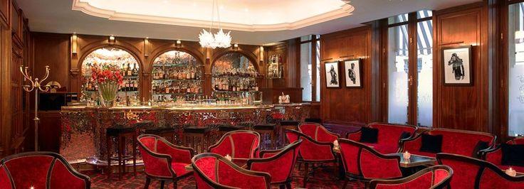 The Bar, Paris, France at Hotel de Crillon piano too