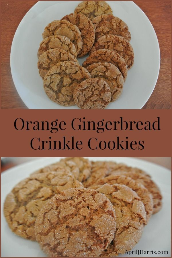 Orange Gingerbread Crinkle Cookies | Recipe