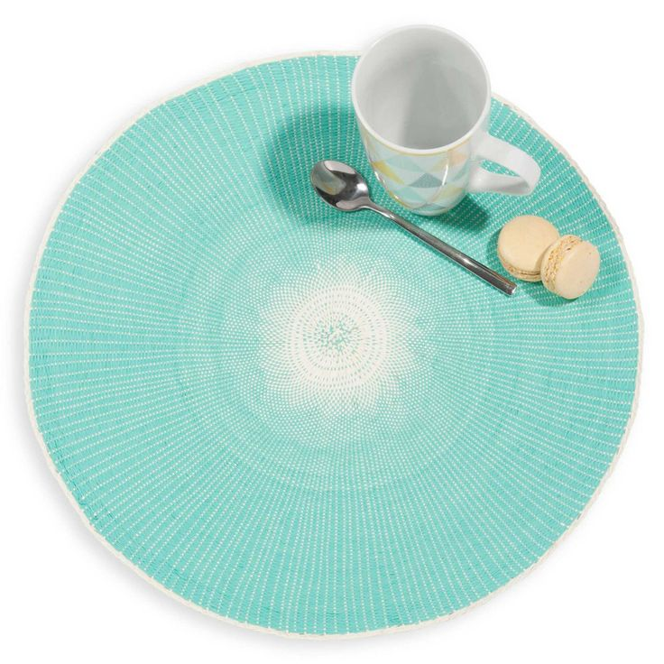 Set de table rond vert ... - lot de 2