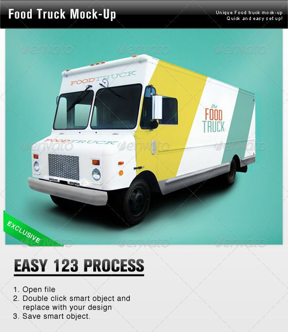 Food Truck Mock Up Miscellaneous Product Mock Ups Food Truck Trucks Food Truck Design