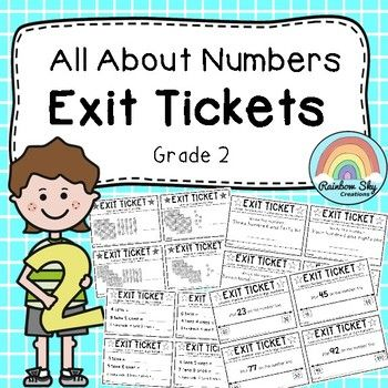 All About Numbers - Exit Tickets. includes 21 different styles of exit tickets to assess your students understanding of number and place value as expected in the Year 2 Australian Curriculum. Over 100+ different questions and differentiated for students needs.