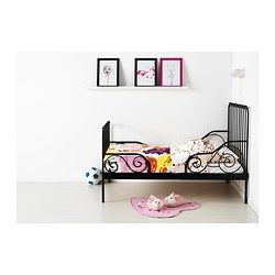 MINNEN Ext bed frame with slatted bed base from IKEA...I think this will be great as a dog bed for all my Pommies :)