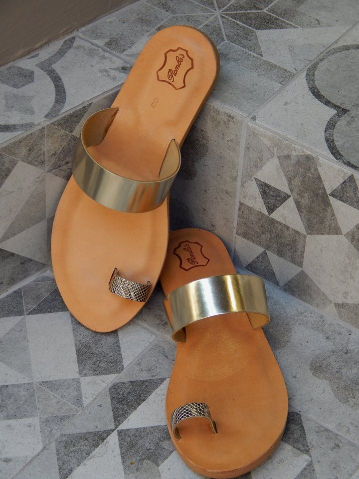 Handmade leather sandal OURANIA  ... golden ...... Romba's leather sandals, bags, tobacco pouches, lighters cases, notebooks and more
