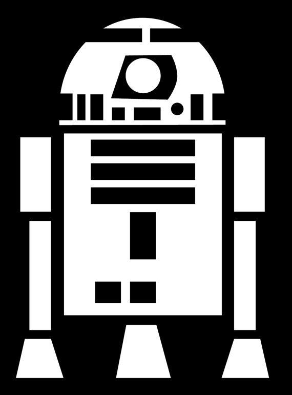 R2d2 Black And White R2d2 Silhouette | www....