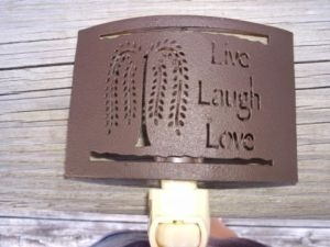 """Primitive Night Light     Willow Tree Live Love Laugh See this item here  http://www.ebay.com/itm/Primitive-Night-Light-Willow-Tree-Live-Love-Laugh-/330545422768  See more items from """"Eclectic Cabinet Knobs & Decor""""  http://stores.ebay.com/Eclectic-Cabinet-Knobs-And-Decor"""