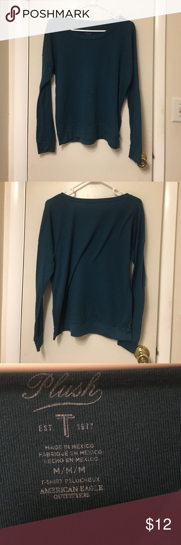 American Eagle Sweater Plush sweater from American Eagle. Soft and comfy. Size medium. Hunter green color. Purchase or place a bid! Bundle with other items for an even better deal! I can give discounts!  I'm open to bids! We can negotiate price! American Eagle Outfitters Sweaters Crew & Scoop Necks
