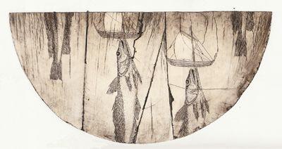 Kete I Andrea Miller print contemporary new zealand art kura gallery
