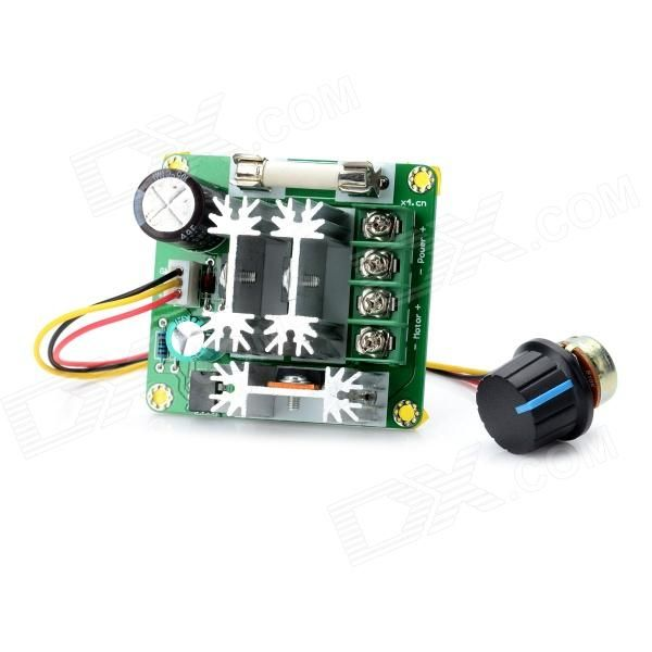 Dc 6v 90v 15a Pwm Motor Speed Control Switch Governor Green Black D Models And Motors