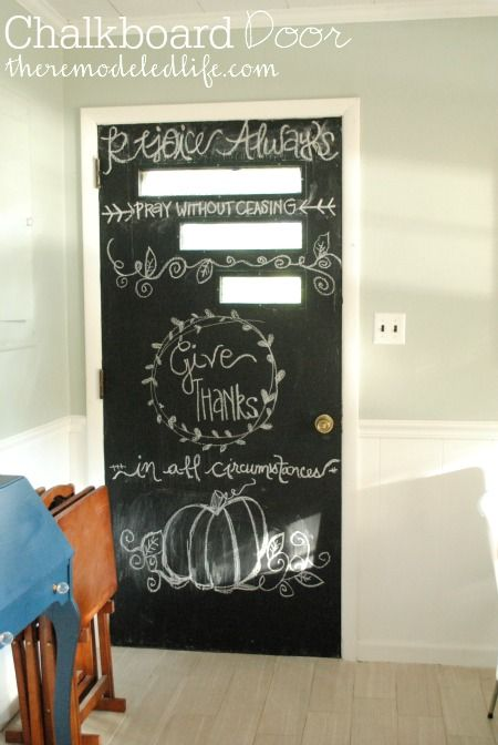 The Remodeled Life: Painting a Kitchen Chalkboard Door