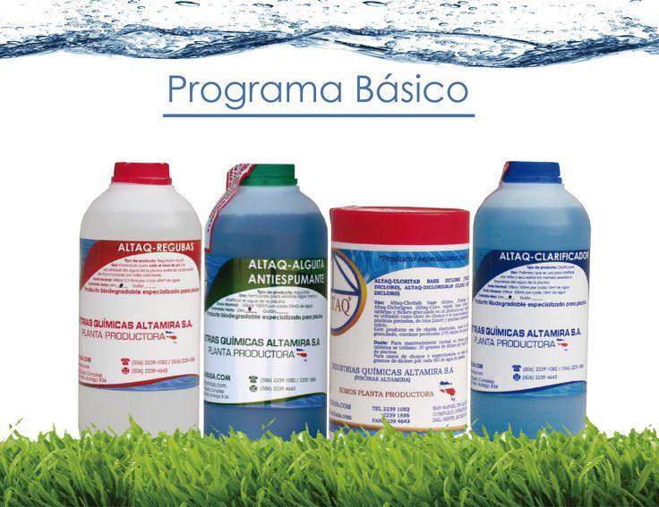Programa b sico altaq para el mantenimiento de piscinas for Piscinas y productos