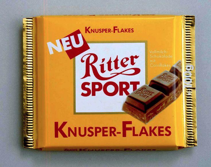 1989 - Die Sorte RITTER SPORT Knusperflakes beginnt ihren Schoko-Siegeszug