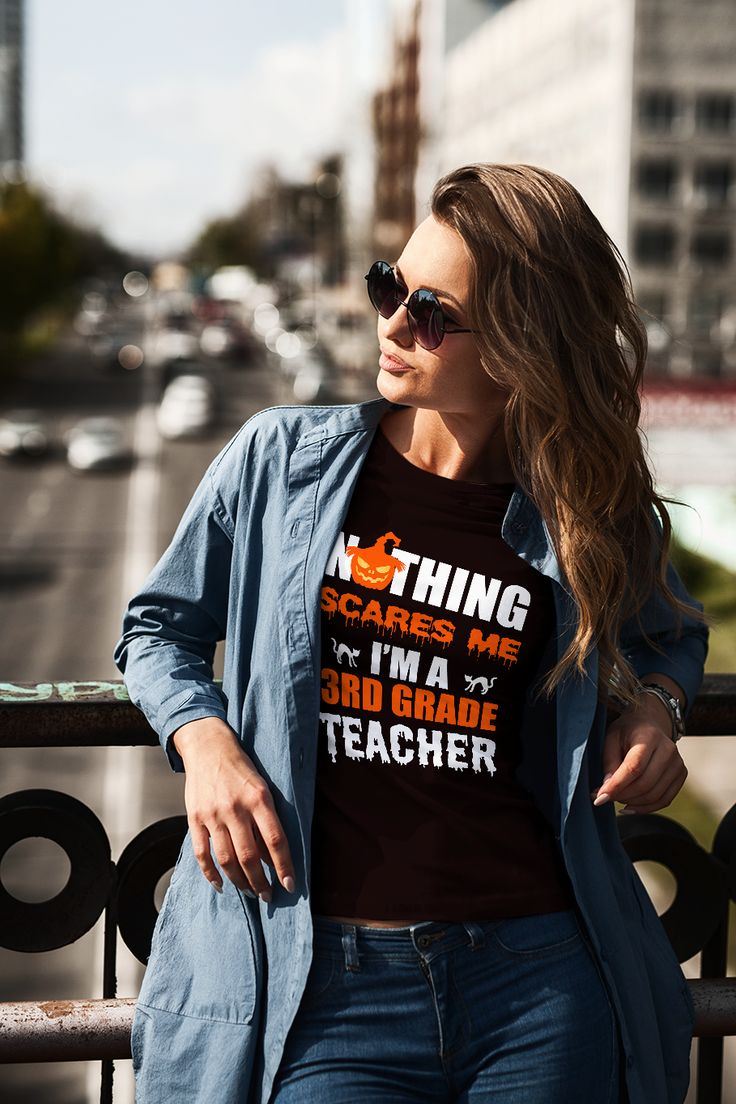 See this #AmazonGiveaway for: #tshirt Womens #Halloween Nothing Scares Me I'm a 3rd Grade #Teacher NO PURCHASE NECESSARY. Ends the earlier of Sep 16, 2017 11:59 PM PDT, or when all prizes are claimed. See Official Rules http://amzn.to/GArules.       This awesome stylized Nothing Scares Me t-shirt for third grade teachers is the perfect gift idea for Costume or Trick or Treat lovers.If you or someone you know loves teachers, then this Halloween themed design is just for you.