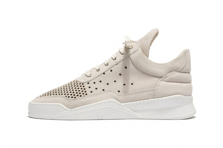 Low Top Gradient Perforated Beige