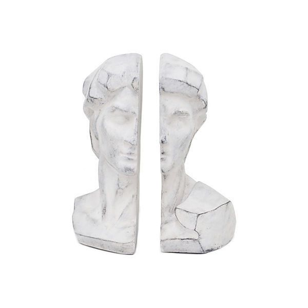 Pair of Classical Bust Bookends Gray ($45) ❤ liked on Polyvore featuring home, home decor, small item storage, fillers, decor, decorative accessories, grey, grey home decor y gray home decor