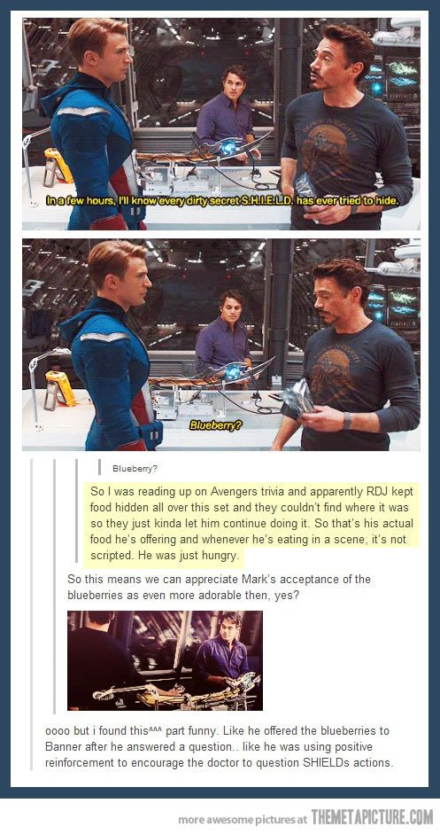 haha if this is true, that's awesome. Robert Downey Jr. does whatever he wants. :)
