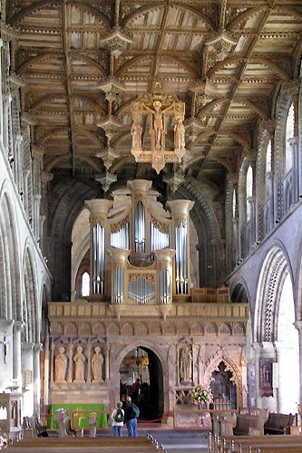 Inside St David's Cathedra, Wales, dates from 1123 but there has been a place of worship on the site for thousands of yearsl ©  Mike Phillips