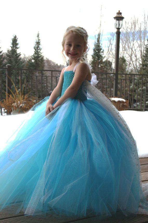 Frozen Elsa Dress Pattern   Disney Frozen Snow Queen Elsa Tutu Costume by JustaLittleSassShop ...