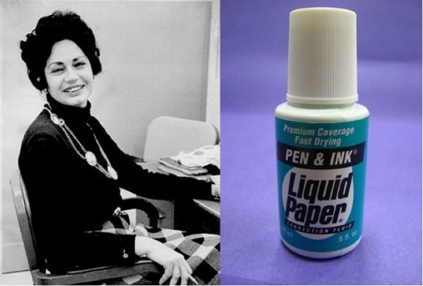 Bette Nesmith Graham invented liquid paper in 1958. Applauded by Andrea Beaty, author of Rosie Revere Engineer. #STEM