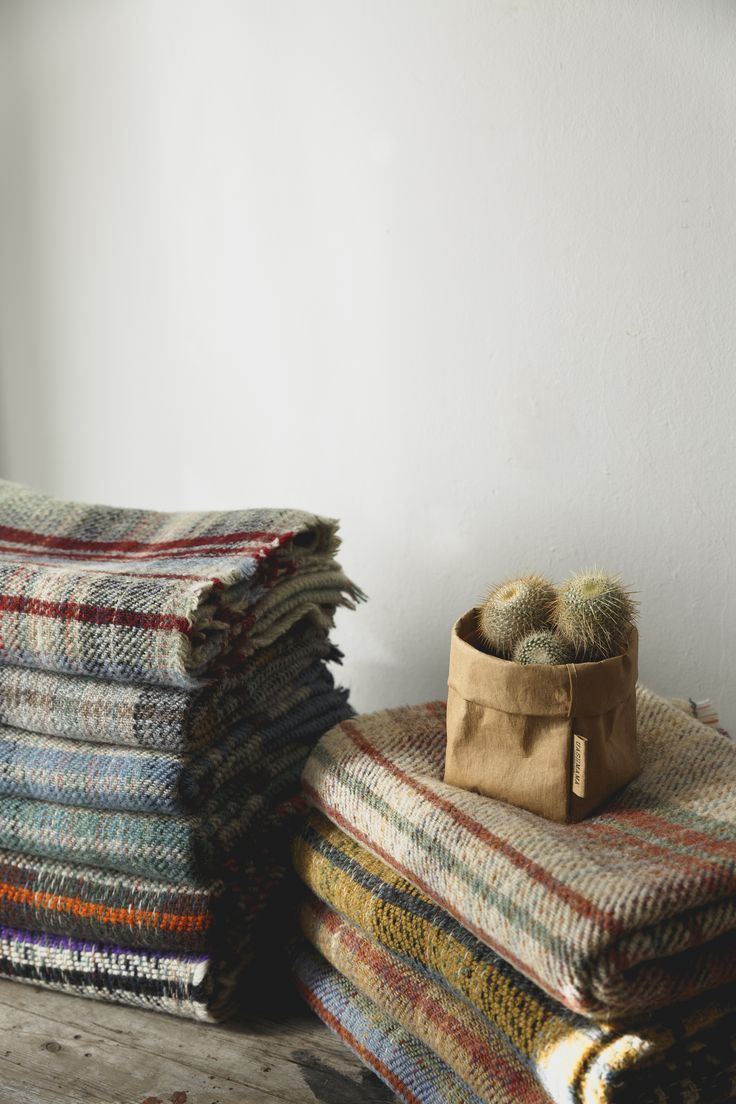 British made recycled wool throw, each one is totally unique to you.