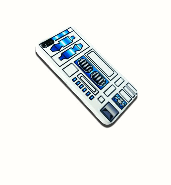 R2D2 Star Wars is available for iPhone 6, Galaxy S5, iPhone 4/4S, iPhone 5/5s and iPhone 5c. The picture shows the design on an iPhone 5/5s case