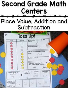 2nd Grade Place Value Math Centers - Check out this 278 page resource! You'll receive number sense, place value, addition, and subtraction math centers for second grade! That includes 27 games and activities with different variations of each for easy differentiation. Just print and go! Click through to see all the awesome CCSS materials included! $