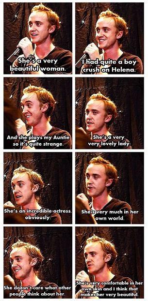 Tom Felton is so in love with Helena Bonham Carter