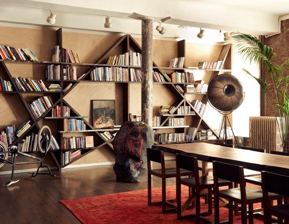 Aaron Young Laure Hériard Dubreuil. Hello beautiful bookshelf wall.