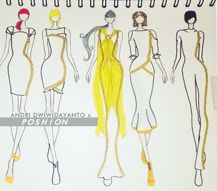 Poshion Sketch Book | #fashionillustration #sketchbook #fashionsketch #draw #croquis #learntodraw