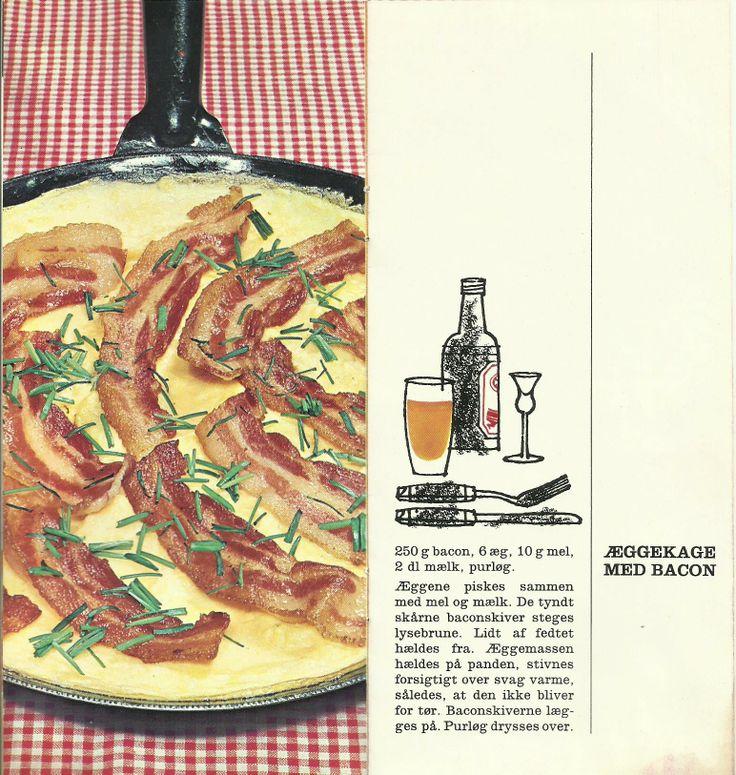 1.  Æggekage med bacon.